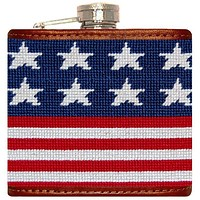 Old Glory Needlepoint Flask in Red, White, and Blue by Smathers & Branson