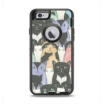 The Vintage Cat portrait Apple iPhone 6 Otterbox Defender Case Skin Set