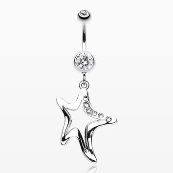 Starfish Dazzle Belly Button Ring