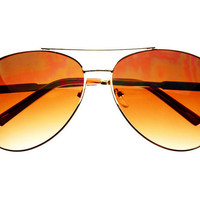 Retro Metal Pilot Aviator Sunglasses Gold A793 – FREYRS - Sunglasses at Affordable Prices