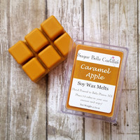 Caramel Apple Wax Melts - Scented Wax Cubes - Wax Tarts - Scented Wax Melts  - Candle Tarts - Soy Wax Melts - Candle Melts - Natural Melts