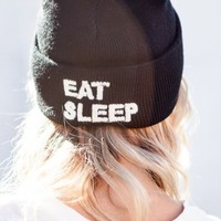 EAT SLEEP EMBROIDERY BEANIE