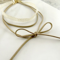 Adelaide Layered Bow Chocker