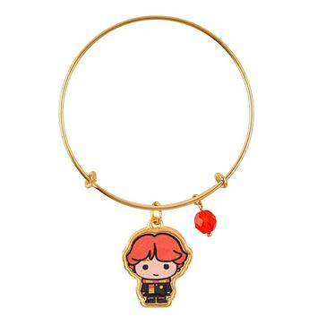 Universal Studios Harry Potter Ron Weasley Gold Tone Charm Bangle New with Tag