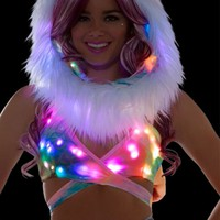 Pastel Tie Dye Light Up Wrap Top | LED Clothing from RaveReady