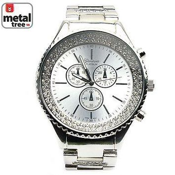 Jewelry Kay style Men's Luxury Hip Hop Fashion Stainless Steel Heavy Metal Band Watches 2678 S