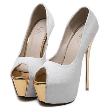 Tenis Feminino 16CM Sexy High-Heels Pumps Peep Toe Suede High Heels Shoes Women Nightclub Shoes Fashion Tenis zapatillas mujer