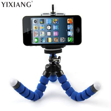 YIXIANG Portable Phone Holder Digital Camera Flexible Octopus Leg Tripod Bracket Stand Adapter Mount Monopod Bubble For Mobile