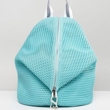 ASOS Lifestyle Mesh Dogclip Backpack With Webbing Straps at asos.com