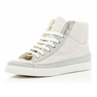 white high tops - high tops - shoes / boots - women - River Island