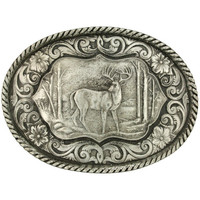 Montana Silversmiths Deer Antiqued Attitude Buckle