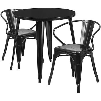 Indoor/Outdoor Retro-Modern With Curved Back Dining Set