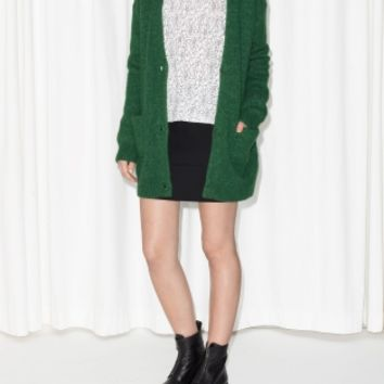 & Other Stories | Wool-Blend Cardigan | Dark Green