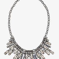 SHORT TIERED MIXED RHINESTONE NECKLACE from EXPRESS