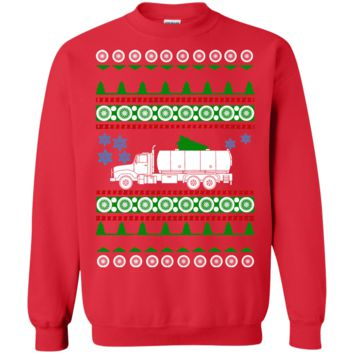 Gas Fuel Truck Driver Ugly Christmas Sweater