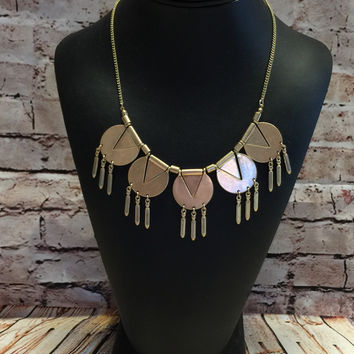 Tribal Necklace: Gold