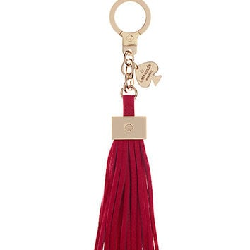 Kate Spade Leather Tassel Keychain Pink ONE
