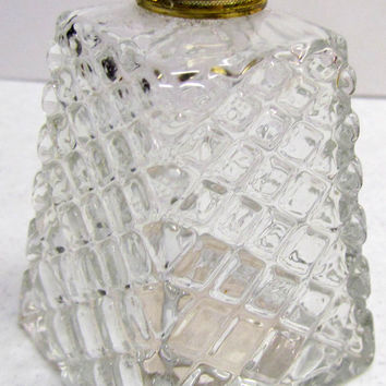 Vintage AVON Brocade Cologne Bottle, Empty