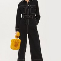 Contrast Denim Boilersuit - New In Fashion - New In
