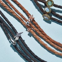 Free People Skyline Triple Leather Choker