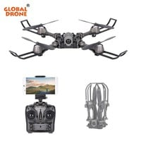Global Drone Drones With Camera FPV Foldable Drone Remote Control Toys For Children RC Helicopter Selfie Drone Mini Dron