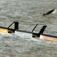 Gold, Silver and Rose Gold tiny bar stud earrings (EA00001)