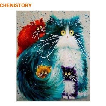 CHENISTORY Frameless Animals DIY Painting By Numbers Wall Art Picture Hand Painted Oil Painting For Home Decor Artwork 40x50cm