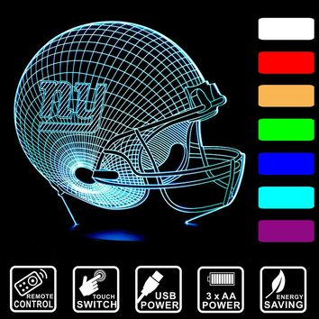 New York Giants colorful USB 3D Visua LED night light table desk Lamp remote control/touch switch lamp