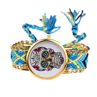 Colorful Skull Head Watch