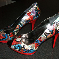 Spiderman vs. Venom - Comic Book Heels - Size 10
