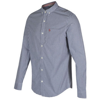 Original Penguin Long Sleeve Gingham Shirt - Blue