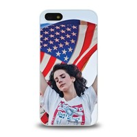 iPhone 5 5S case protective skin cover with American Pop Singer Lana Del Rey pretty design #11