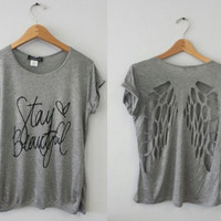 Wings back shirt- Stay Beautiful