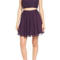 Speechless 'Pearl' Lace Two-Piece Skater Dress | Nordstrom