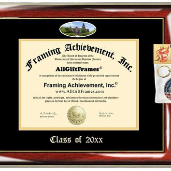 AllGiftFrames Custom Diploma Frame Embossed Best DePauw University Graduation Degree Frame Double Mat Campus Fisheye Picture Frame Cheap Degree DePauw Graduate Gift