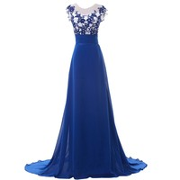 Royal Blue Evening Dresses Mother of the Bride Dress Long Women Formal Dress Dinner Celebrity Party Dress