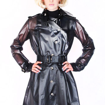Vinyl Spy Trench Coat - 50% OFF