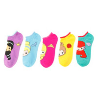 Disney Emoji Princesses No-Show Socks 5 Pair