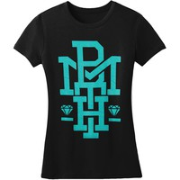 Bring Me The Horizon  Diamond Turquoise Junior Top Black