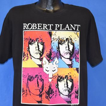 80s Robert Plant Manic Nirvana Album Tour 1989 t-shirt Extra Large