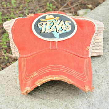 Judith March Cap Texas - Red