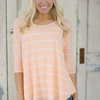 A Fresh Start Top (Peach) - Piace Boutique