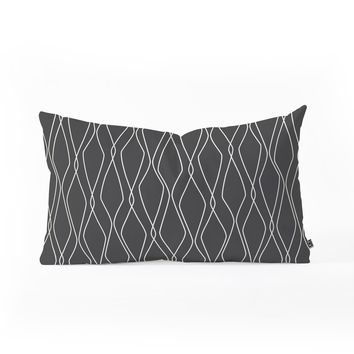 Heather Dutton Fuge Slate Oblong Throw Pillow