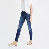 "9"" High-Rise Skinny Jeans: Ripped and Patched Edition"