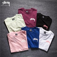 Stussy Woman Men Fashion Simple Tunic Shirt Top Blouse