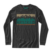 Woodland Long Sleeve Tee Heather Charcoal / HippyTree