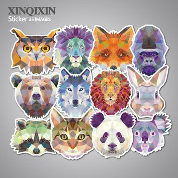 35Pcs Galaxy Animal Stickers Mixed Funny Cartoon Jdm Graffiti Decals Luggage Laptop Computers Bicycles DIY Waterproof Stickers