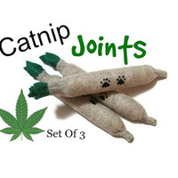 Cat Toys - Felt  Kitty Joints - Set Of 3