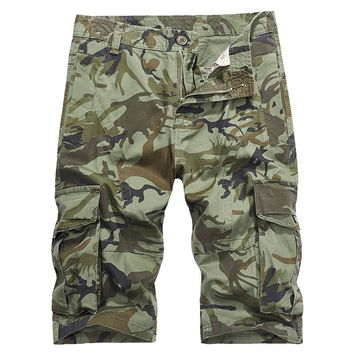 2018 New Pattern Men's Camo Working  Pants Mulit-Pocket Cargo Clothes Male Sports Camping Trainning Hunting Trousers Shorts