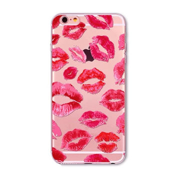 Lipstick Kisses Kylie Phone Case For iPhone 7 7Plus 6 6s Plus 5 5s SE